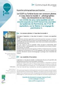 Exposition concours photo CCSTI