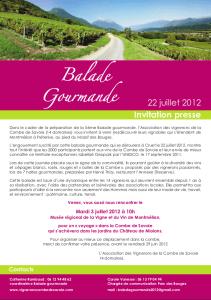 affiche balade vin 2012