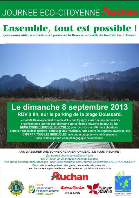 Journ e d 39 entretien de la r serve du bout du lac alpes communiqu s - Auchan eco energie ...
