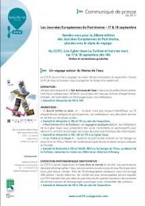 programme journées patrimoine 2011