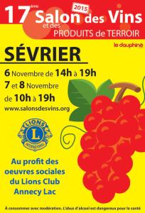 2015 : salon de sevrier sur les vins